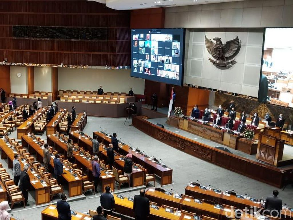 196 Anggota DPR Absen Paripurna Pengesahan Prolegnas Prioritas 2021