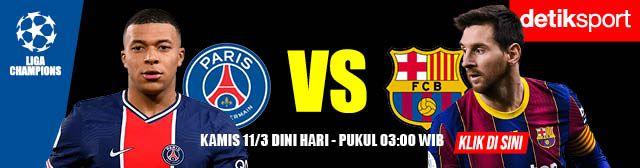 Banner PSG Vs Barcelona