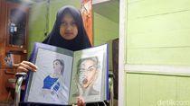 Rahma Gadis Difabel di Banjarnegara Ini Jago Melukis