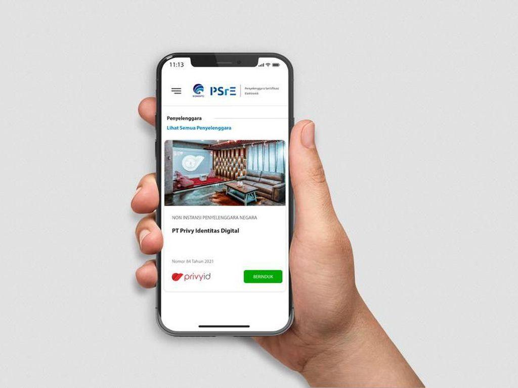 Tanda Tangan Digital PrivyID dapat Sertifikasi Tertinggi dari Kominfo