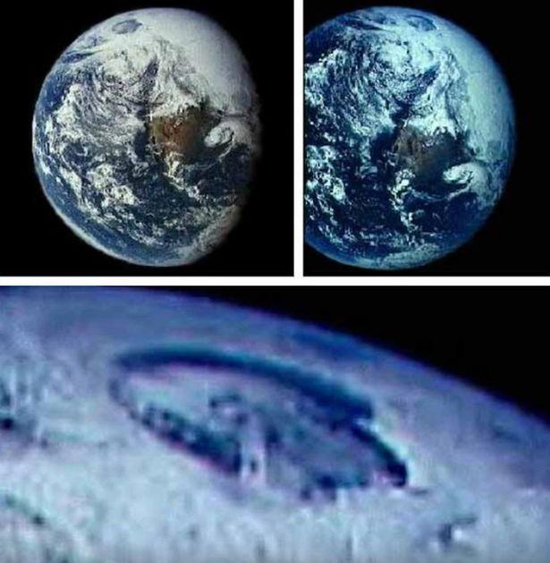 Teori 'hollow earth' atau Bumi yang kopong dipercaya oleh segelintir orang. Mereka meyakini bahwa ada kehidupan di bawah lubang rahasia Bumi yang berisikan mahluk asing. Nah, disebut-sebut lubang ini berada di Kutub Utara.Beberapa waktu lalu, penggila konspirasi ini menunjukkan sebuah foto yang dipercaya menjadi bukti. Mereka mengklaim bahwa tengah Bumi diisi oleh mahluk mirip mammoth dan memiliki Matahari sendiri.