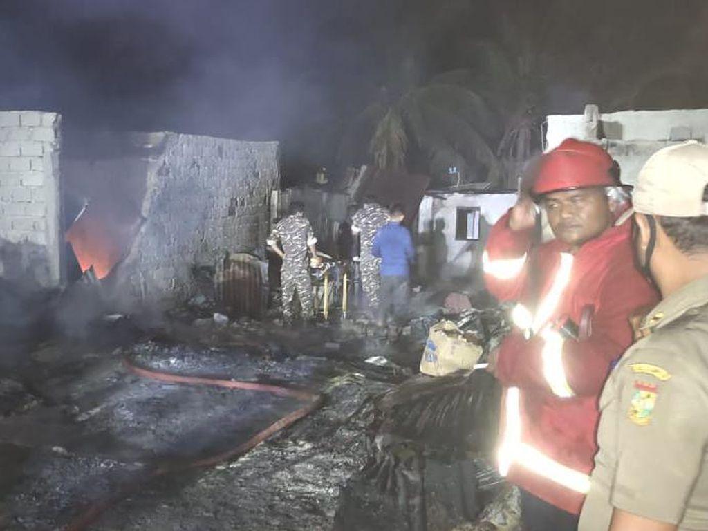 Pasutri Ditemukan Tewas Usai Kebakaran Pasar di Kampar Riau