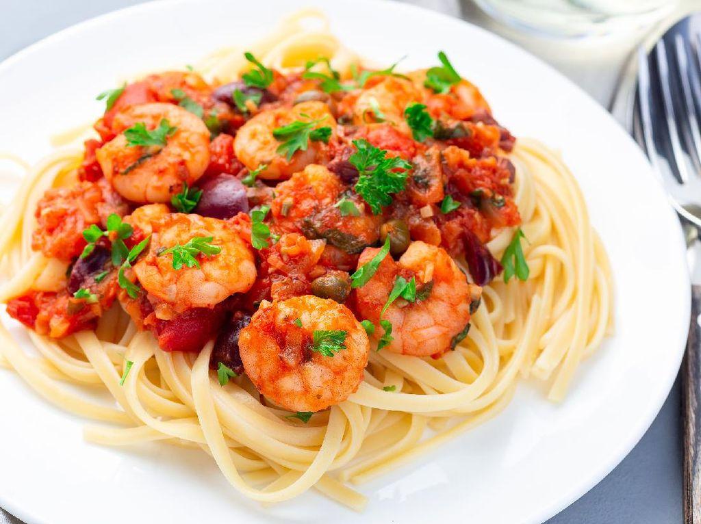 Resep Linguine Saus Udang Pedas ala Resto Italia yang Lezat
