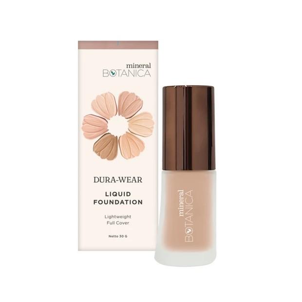 Mineral Botanica Dura Wear Foundation ringan dan mengontrol minyak berlebih di wajah /mineralbotanica.com
