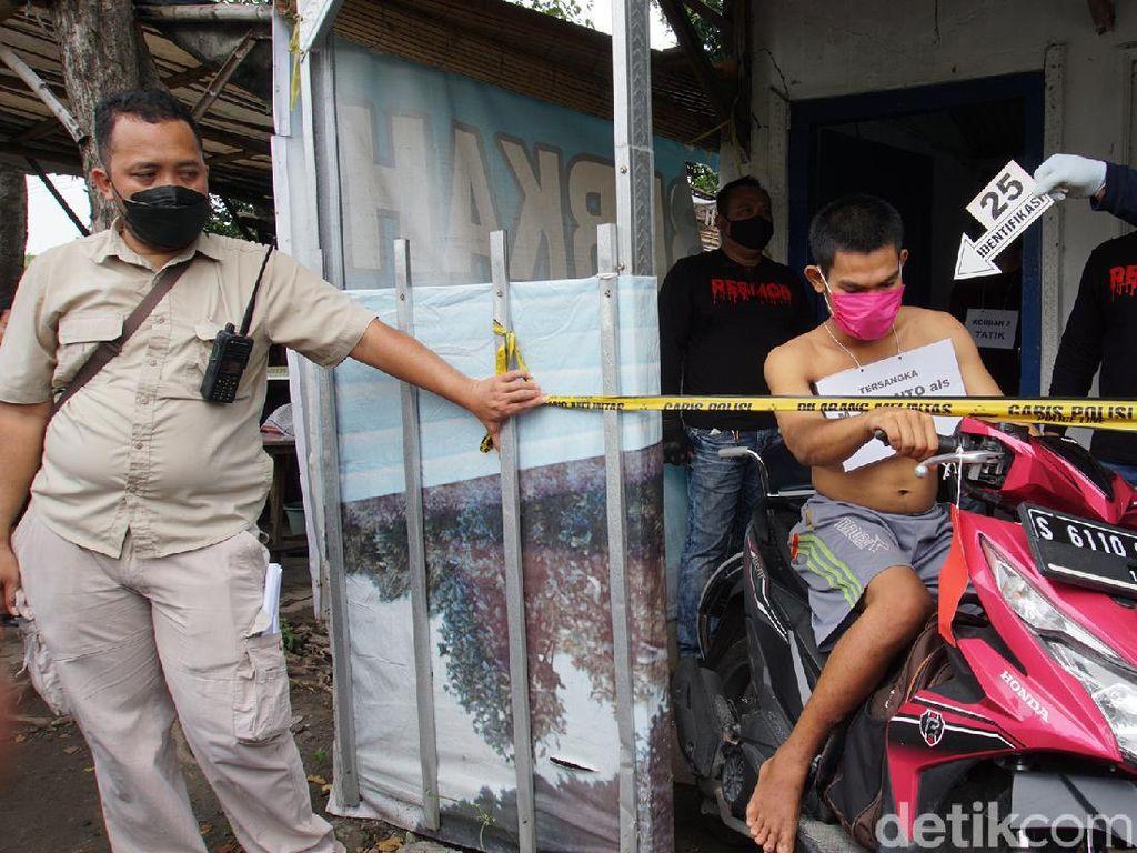 Reka Ulang Pembunuhan Terapis Mojokerto, Jaksa Minta Tersangka Dites Kejiwaan