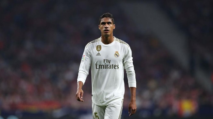 STOCKHOLM, SWEDEN - SEPTEMBER 05: Raphael Varane of France looks on during the UEFA Nations League group stage match between Sweden and France at Friends Arena on September 05, 2020 in Stockholm, Sweden. (Photo by Linnea Rheborg/Getty Images)