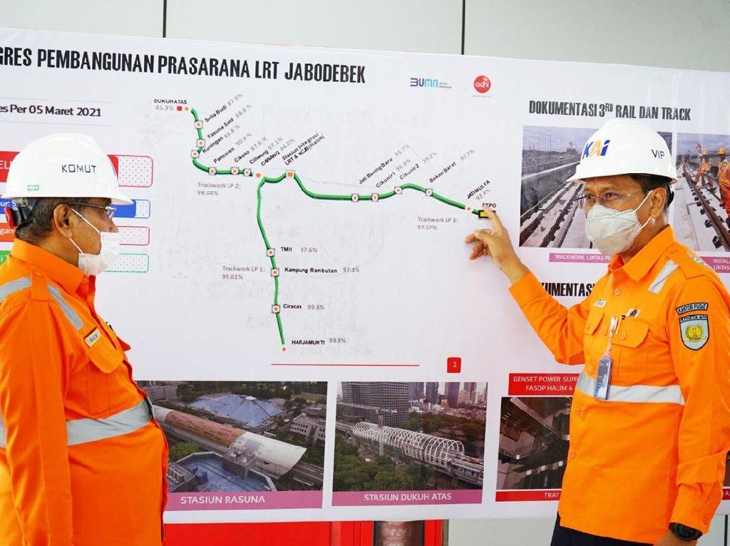 Blusukan ke Proyek LRT Jabodebek, Said Aqil Harap Juli 2022 Jalan