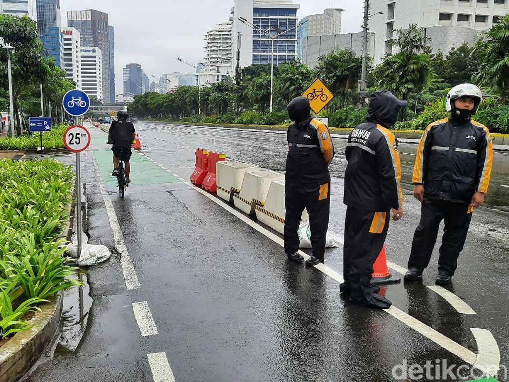 Libur Isra Mikraj, Begini Kondisi Jalur Sepeda Jl Sudirman-Thamrin