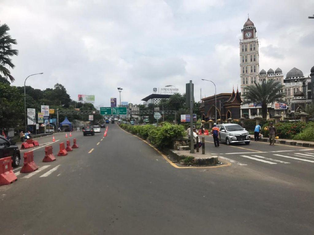 Lalin di Simpang Gadog Arah Puncak Pagi Ini Lancar