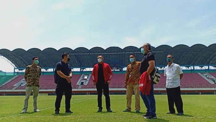 Stadion Maguwoharjo di Sleman untuk persiapan Piala Menpora 2021