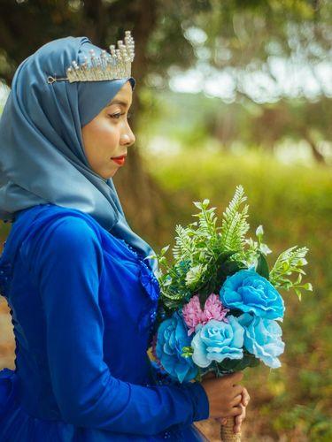 Wanita viral foto prewedding sendirian