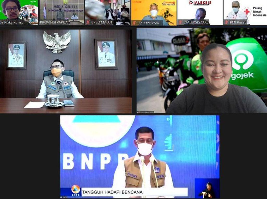 Tanggap Bencana, Gojek Diganjar Penghargaan dari BNPB