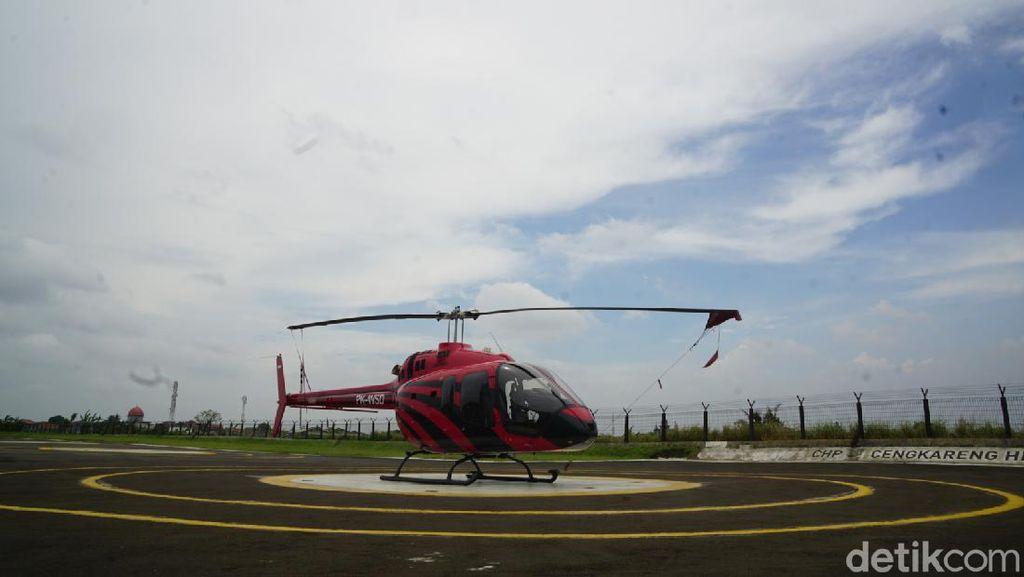 Foto: Tempat Mangkalnya Taksi Terbang di Cengkareng