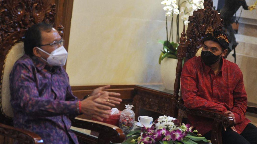 Potret Anindya Bakrie Sowan ke Gubernur Bali