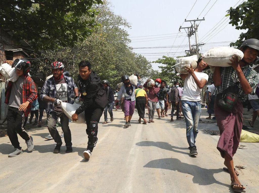 20 Demonstran Myanmar Tewas, Total Jumlah Korban Jiwa Mencapai 180 Orang