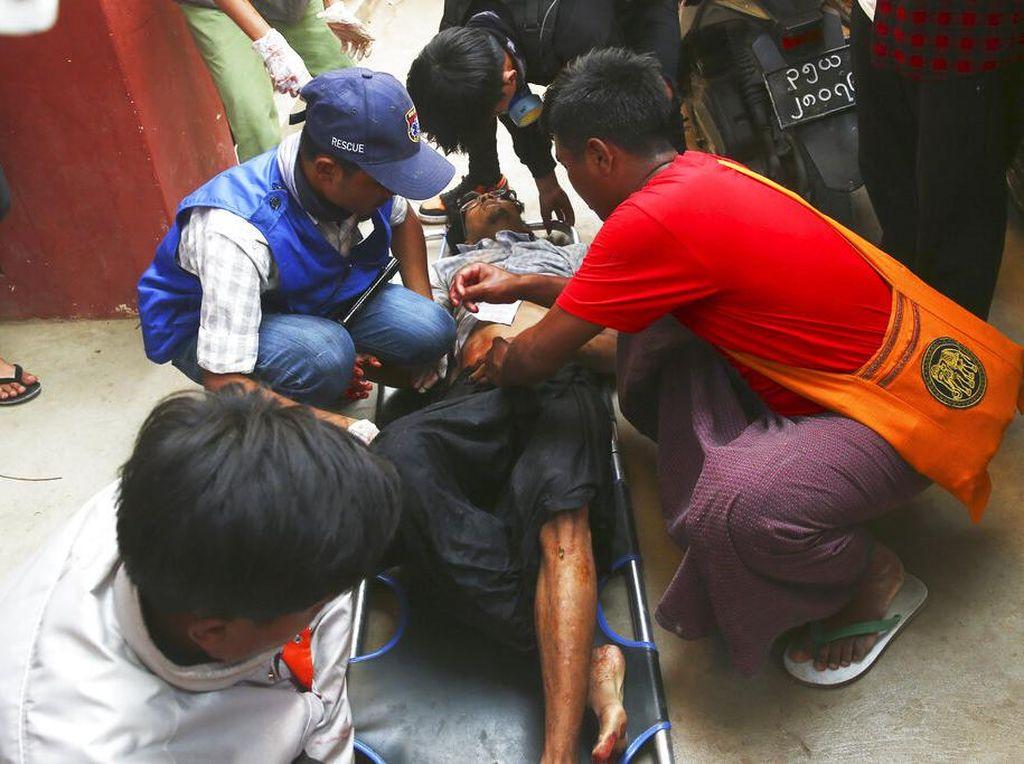 Korban Tewas Demo Antikudeta Myanmar Bertambah Jadi 6 Orang