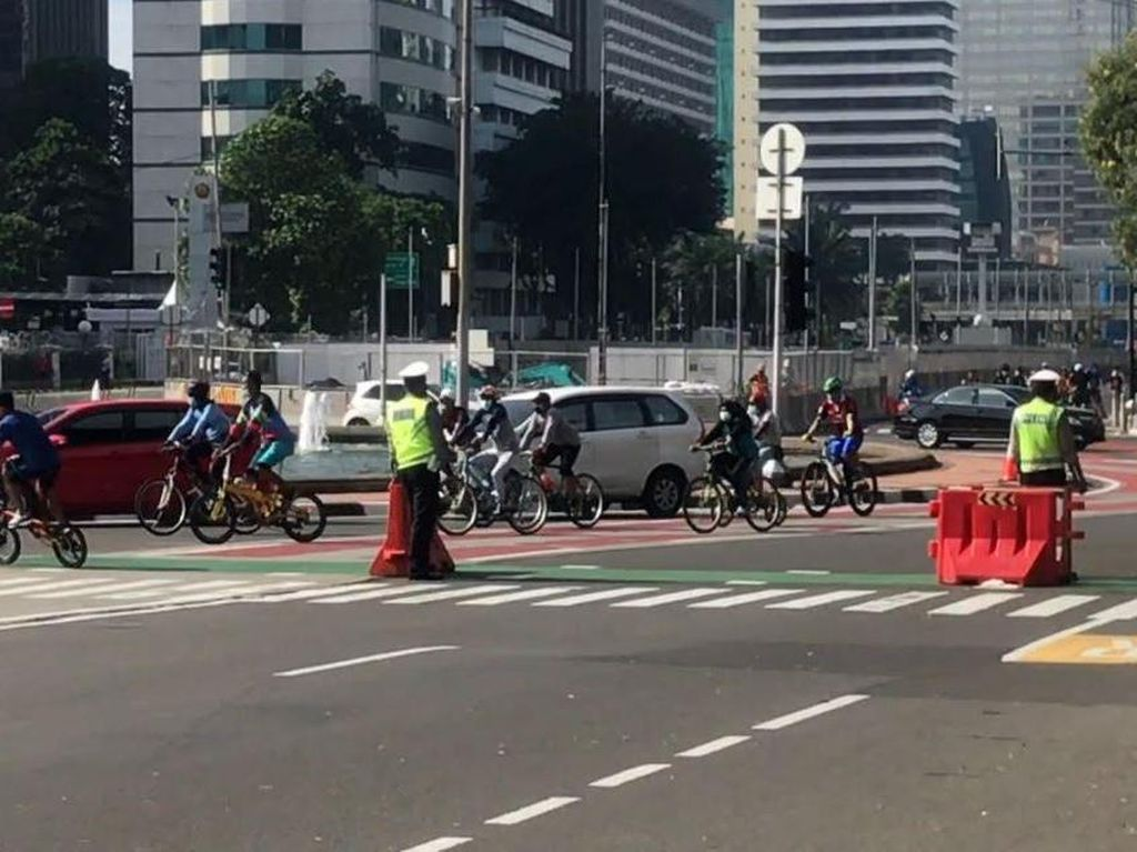 Minggu Pagi, Polisi Razia Knalpot Bising di HI-Monas