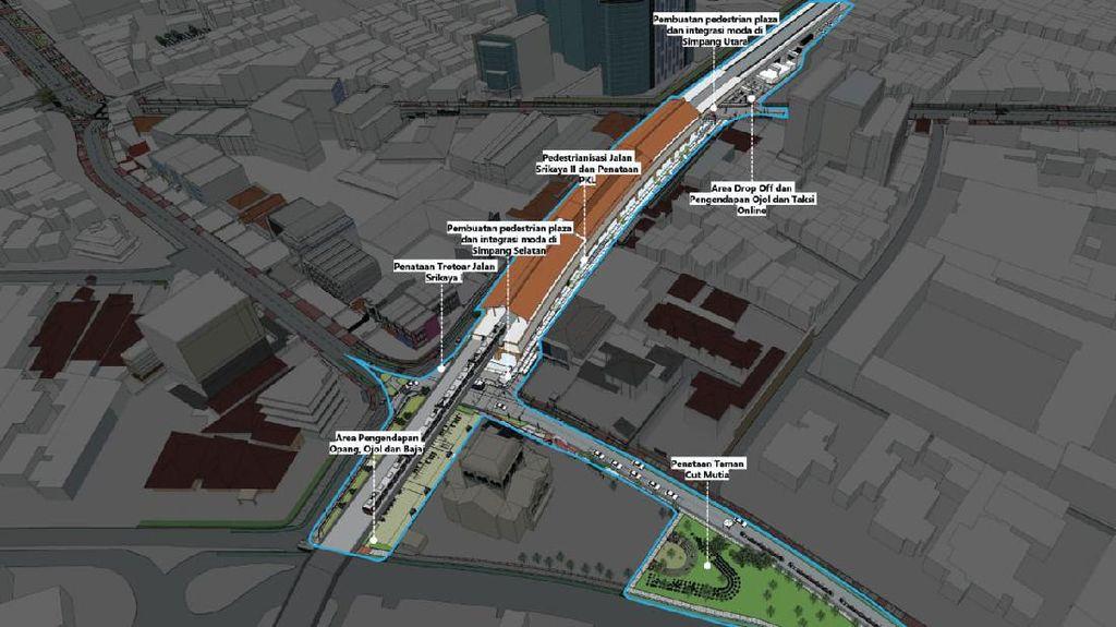 Bocoran Penataan Stasiun Gondangdia: Pedestrian Plaza hingga Area PKL