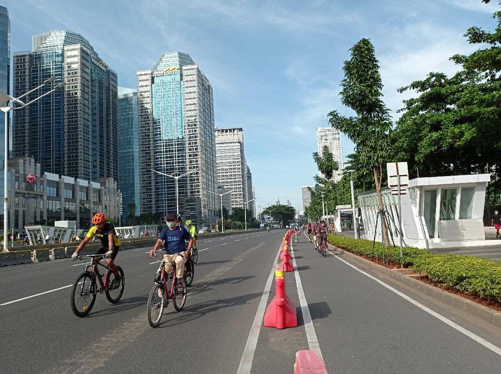 Ramai Pegowes, Dua Lajur Jalan Sudirman-Thamrin untuk Sepeda
