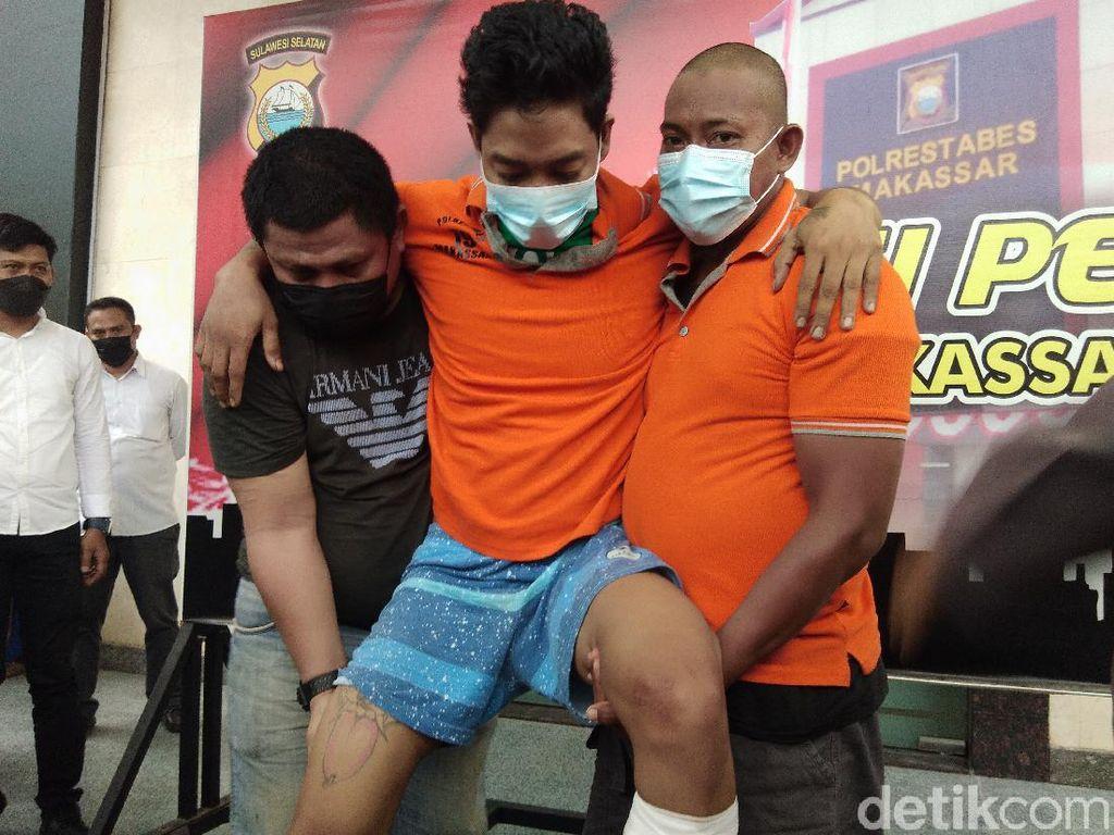 Kurir 2 Kg Sabu di Makassar Ditangkap, Timah Panas Bersarang di Kaki
