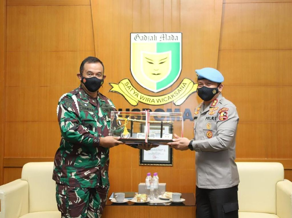 Kadiv Propam Polri Bertemu Danpuspom TNI,Perkuat Kerja Sama Penegakan Hukum