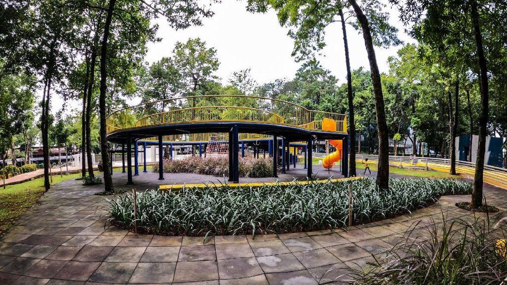 Penampakan Taman Puring Usai Dibuka Lagi untuk Umum