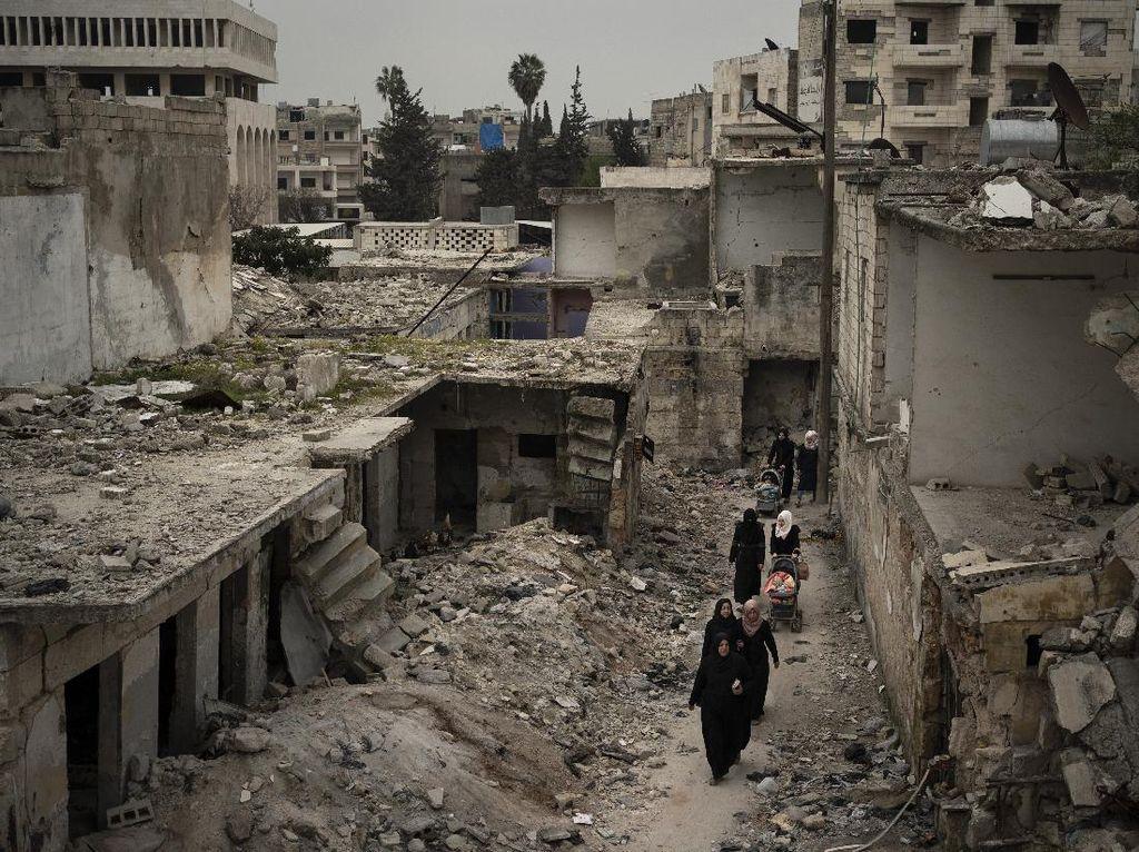 Serangan Artileri di Suriah Diduga dilakukan Rusia, 8 Warga Tewas