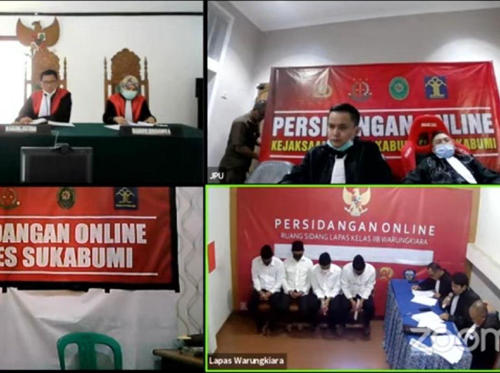 Tangis Nahkoda Terdakwa Bola Sabu di Sukabumi Saat Bacakan Nota Pembelaan