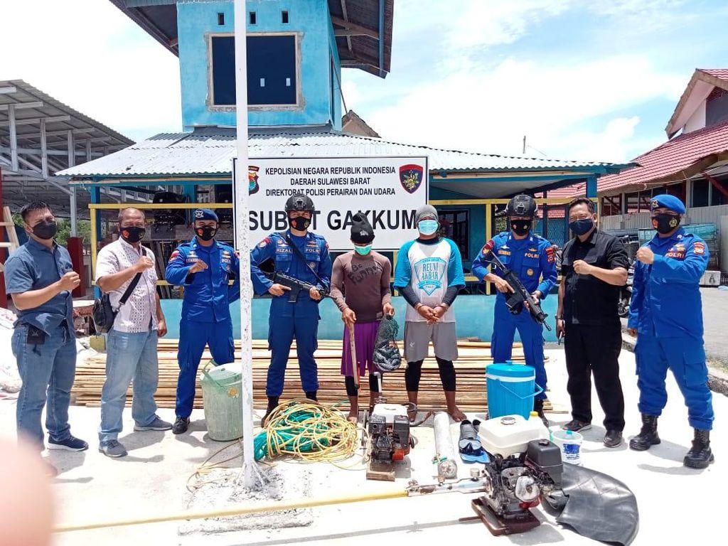 Bikin Resah, 2 Nelayan Pengebom Ikan di MamujuSulbar Ditangkap