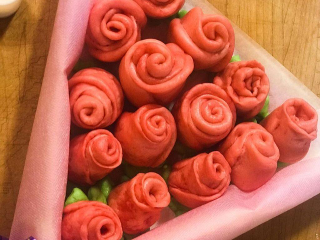 Masak Masak : Bakpao Mawar yang Empuk Cantik