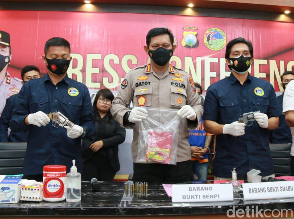 Bandar Sabu Asal Mojokerto Diringkus, Polisi Sita 3 Pistol Rakitan