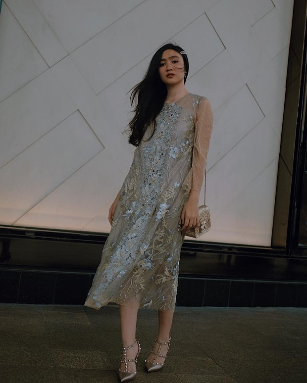 Febby Rastanty tampil manis dengan tulle dress/instagram.com/febbyrastanty
