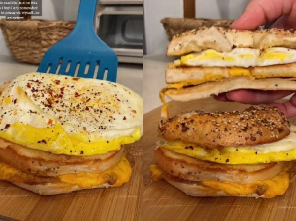 5 Kreasi Sandwich Telur Viral di TikTok, Enak Buat Sarapan!