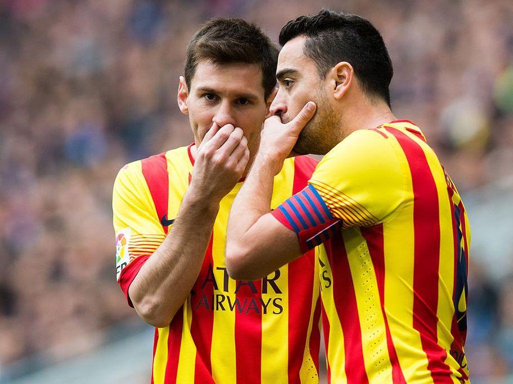 Xavi: Insyaallah, Messi Bertahan di Barcelona