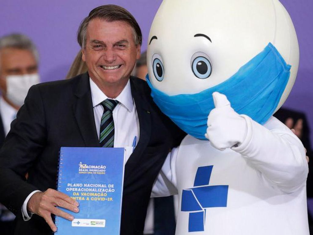 Warga Brasil Kehilangan Maskot Vaksin