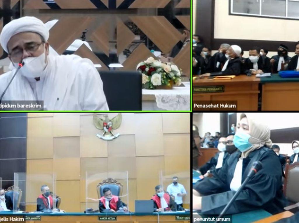 Detik-detik Habib Rizieq Walkout dan Berdebat dengan Jaksa