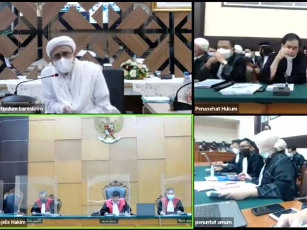 Jaksa Sebut Rizieq Lari dari Sidang Virtual, Pengacara: Ngarang Itu!