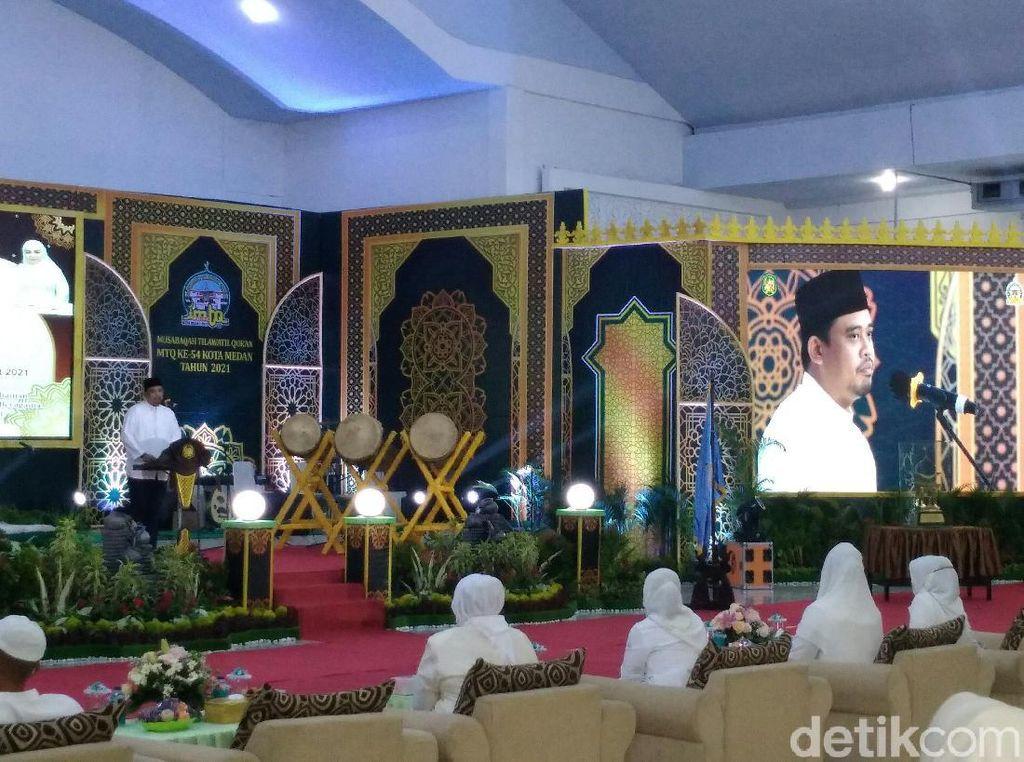 Buka MTQ Ke-54 Kota Medan, Bobby: Tahun Ini Semua Bisa Lihat di Medsos