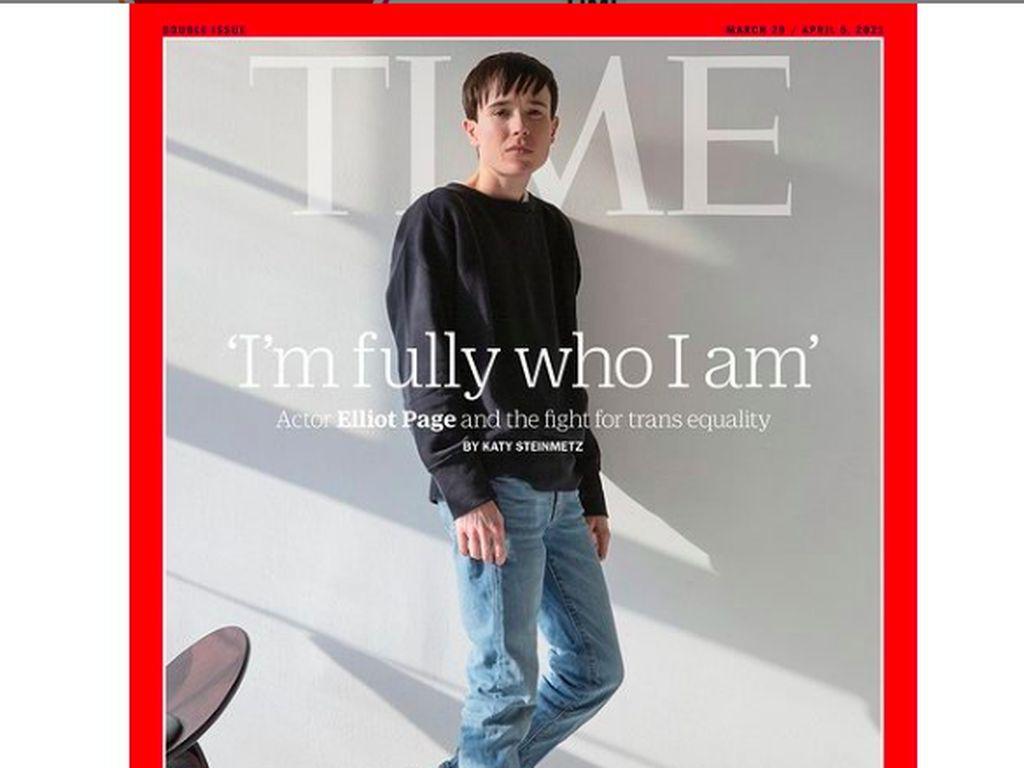 Penampilan Baru Elliot Page Sebagai Transgender di Sampul TIME