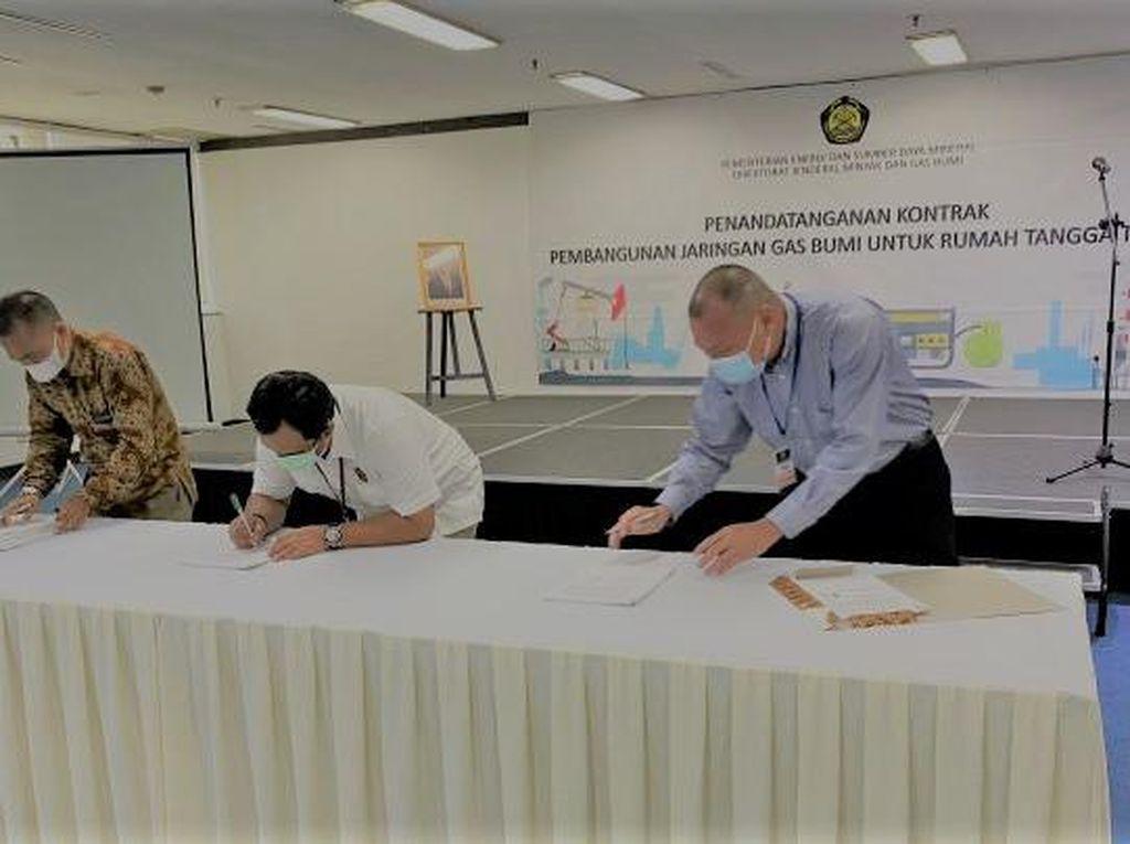 Kontrak Diteken, Kementerian ESDM Bakal Bangun Jargas di 3 Tempat Ini