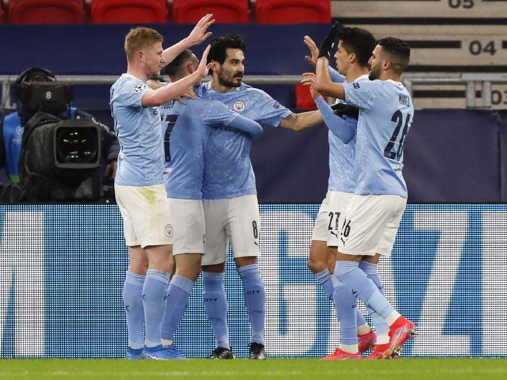 Man City Ungguli Gladbach 2-0 di Babak Pertama