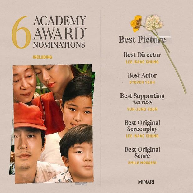Minari masuk 6 nominasi Oscar 2021 (foto: instagram.com/minarimovie)