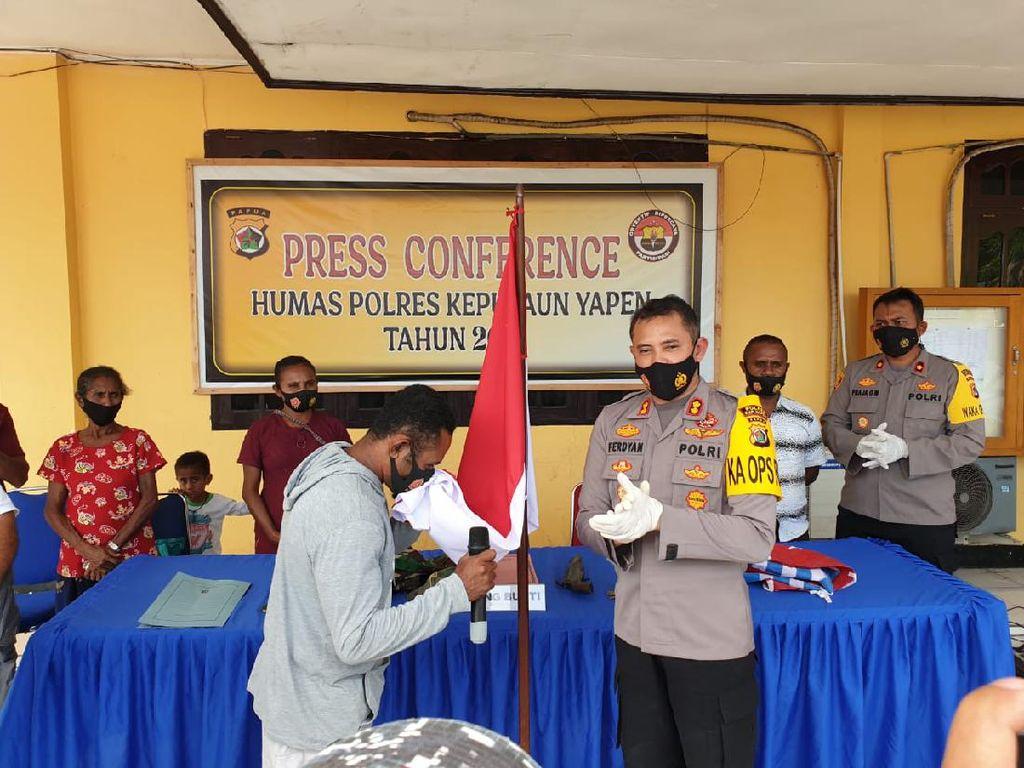 Komandan KKB Kepulauan Yapen Papua Serahkan Diri, Ikrar Setia ke NKRI