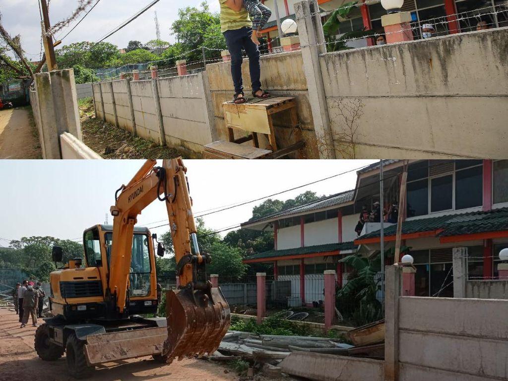 Before-After Tembok yang Mengurung Rumah di Ciledug Dihancurkan
