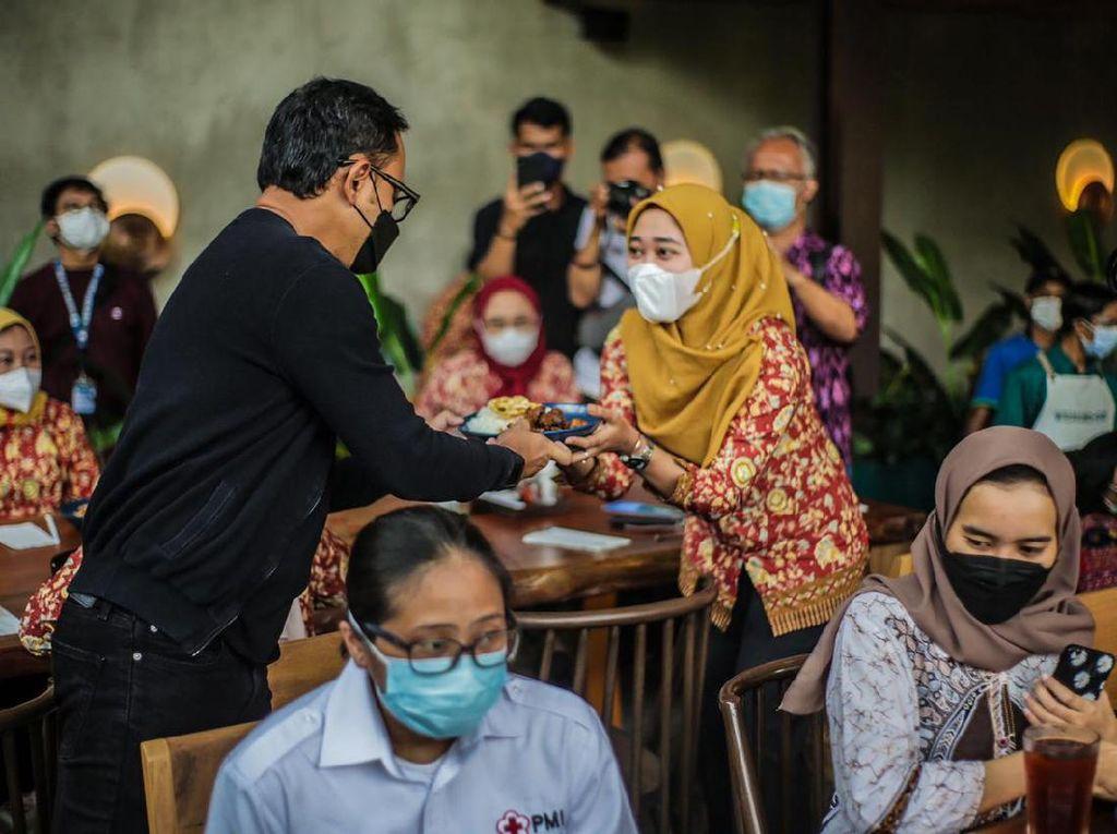 Momen Bima Arya Traktir Makan & Belanja 3.130 Perawat di Kota Bogor