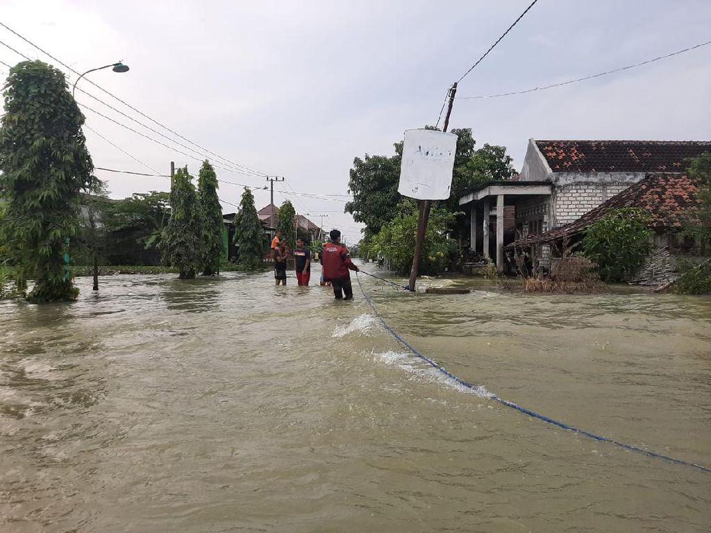 12 Desa di Gresik Banjir Terdampak Luapan Kali Lamong