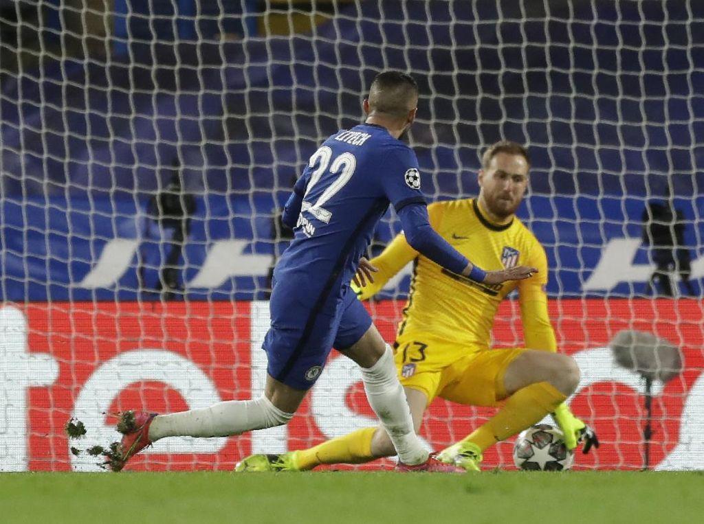 Chelsea vs Atletico: Ziyech Bawa The Blues Unggul di Babak Pertama