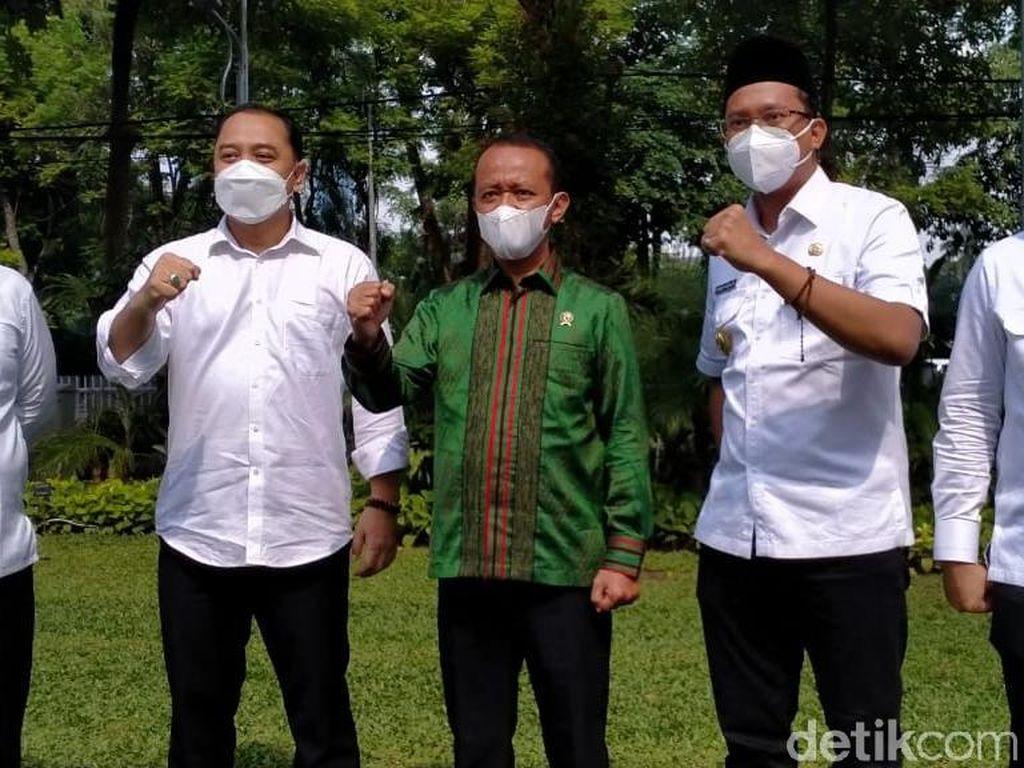 Kepala BKPM Bertemu Tiga Kepala Daerah Surabaya Raya, Ini yang Dibahas