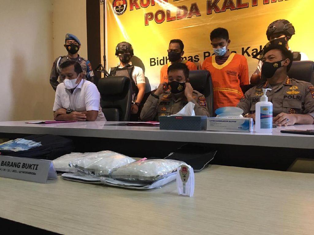 Polda Kaltim Amankan Sabu Kualitas Sultan Seberat 3 Kg Asal Malaysia
