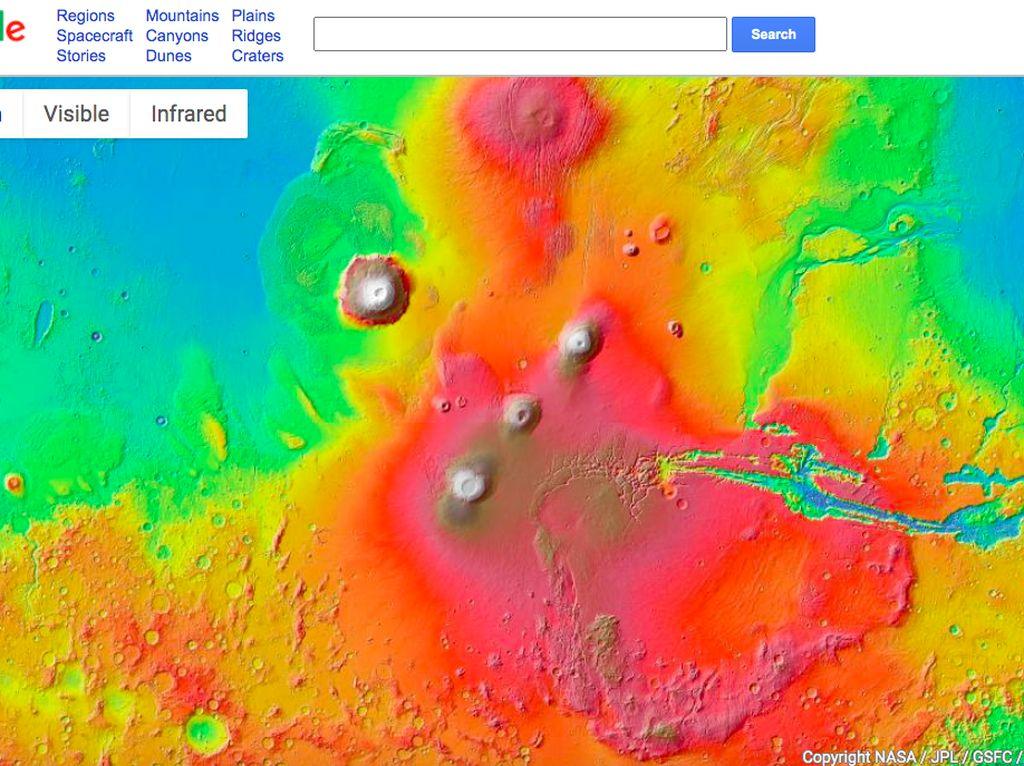 Jalan-jalan ke Mars Pakai Google Maps, Bisa!